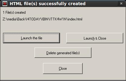 DirHTML GUI