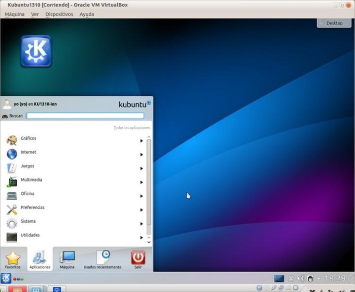 Kubuntu1310-MenuClasico