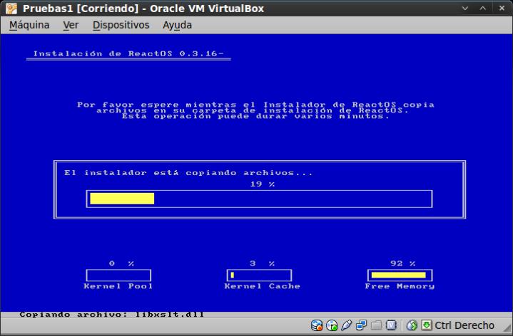 ReactOS-BootCD-Instalando