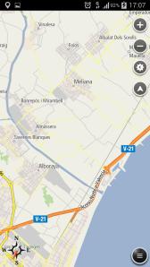 Navfree-sirviendo de mapa