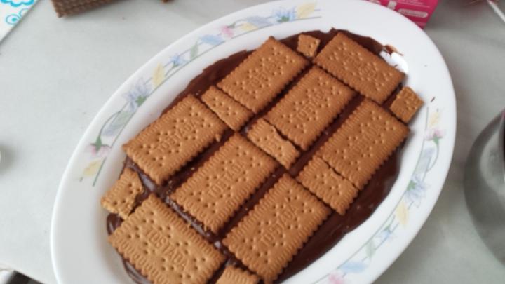 Otra capa de galletas