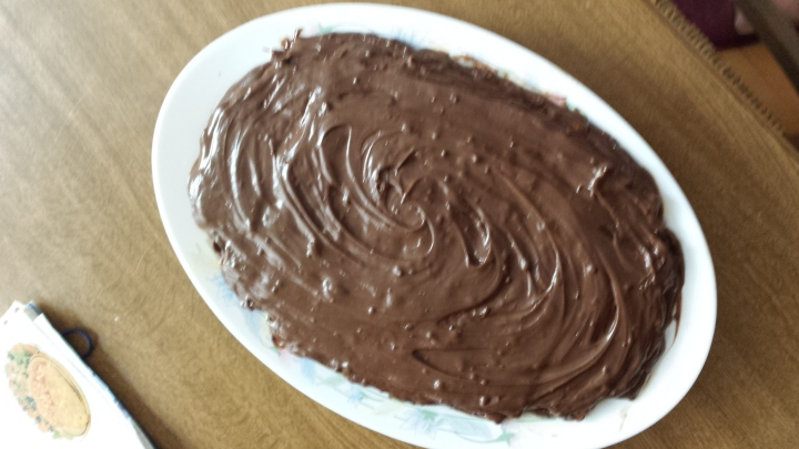 Capa final de chocolate para cubrir todo