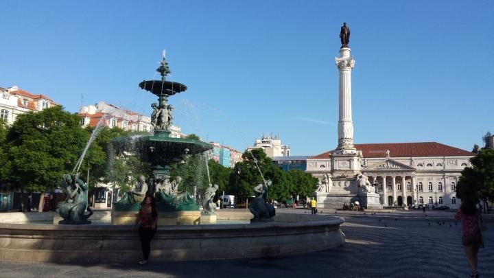 Plaza del Rossio de mañana