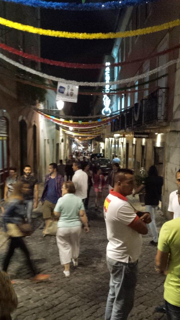 Marcha nocturna en Barrio Alto