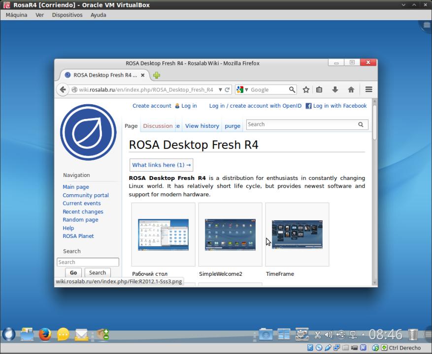RosaR4 - Mozilla Firefox