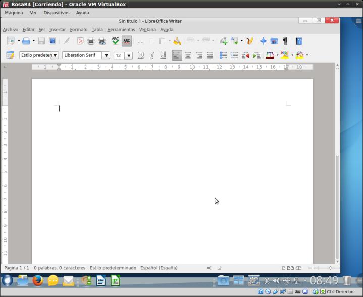 RosaR4 - Libre Office Writer