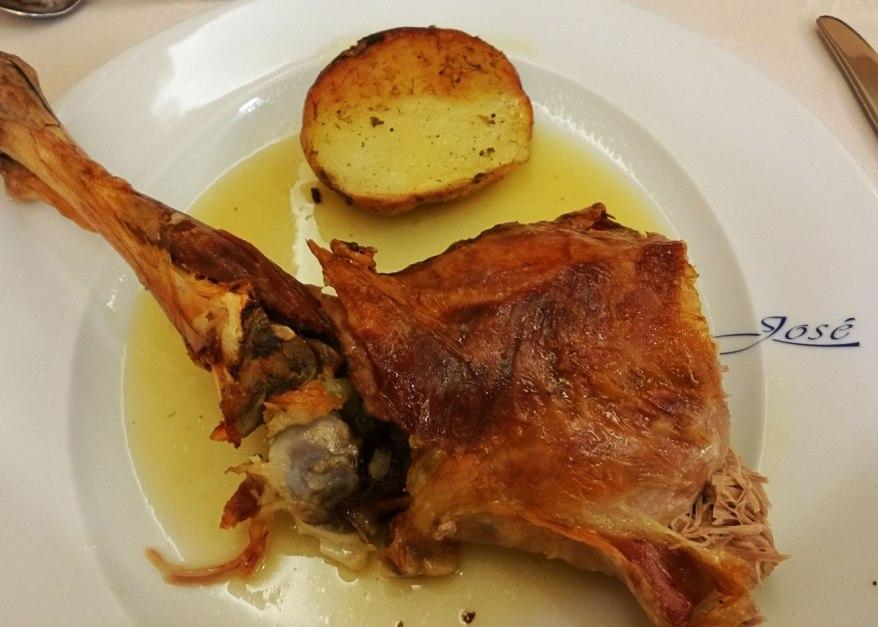 Segovia - Gastronomía: Cordero