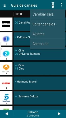 Smart Remote: guía de canales