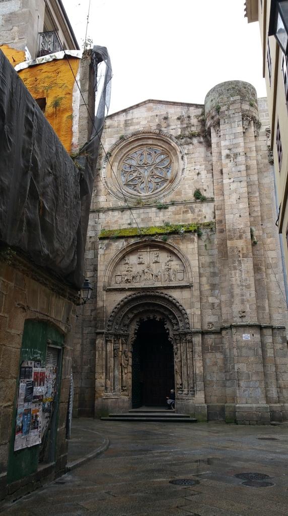 Orense: Fachada norte de la catedral