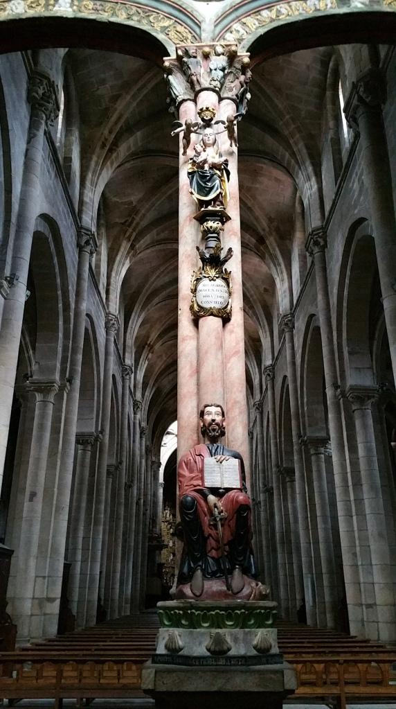 Orense: parte central del Pórtico del Paraíso en la catedral