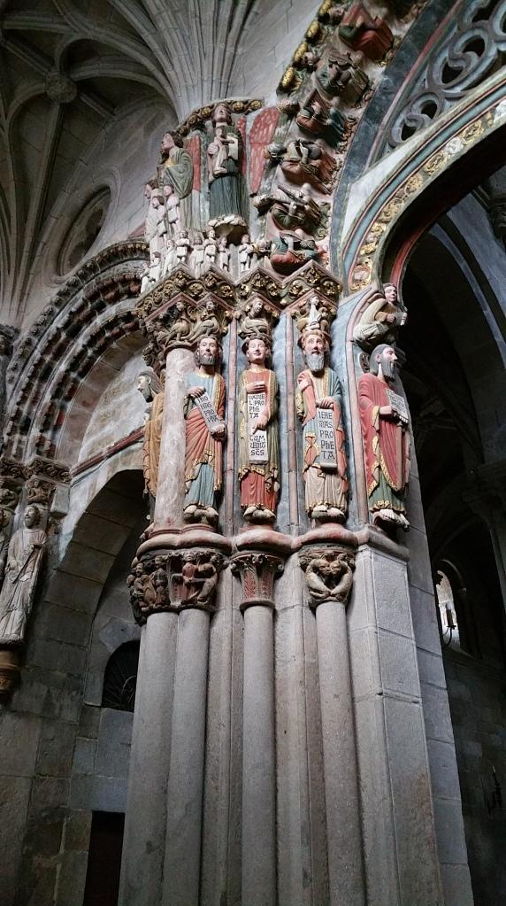 Orense: parte izquierda del Pórtico del Paraíso en la catedral
