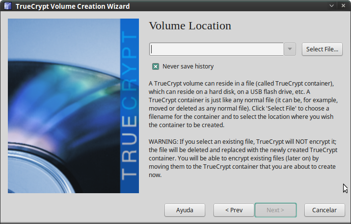Pantallazo-TrueCrypt Volume Creation Wizard-2