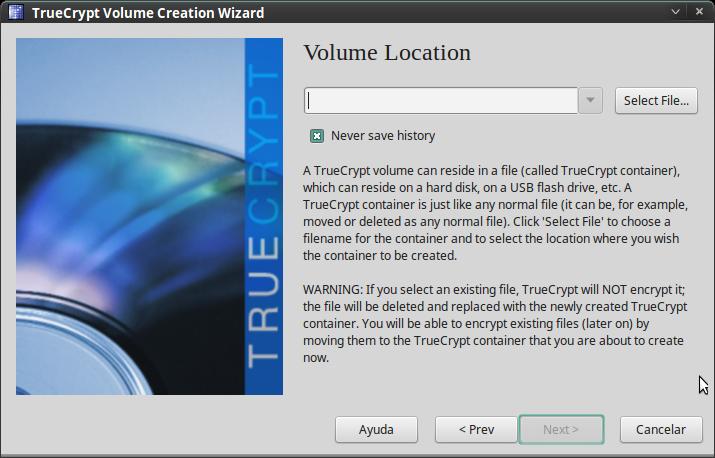 Pantallazo-TrueCrypt Volume Creation Wizard-2