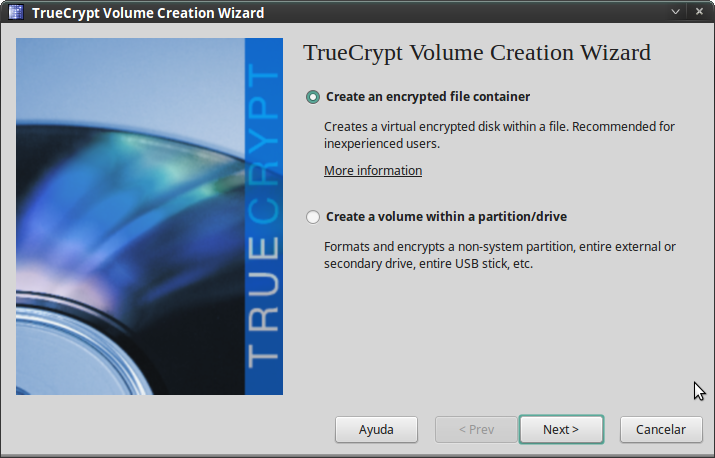 Pantallazo-TrueCrypt Volume Creation Wizard