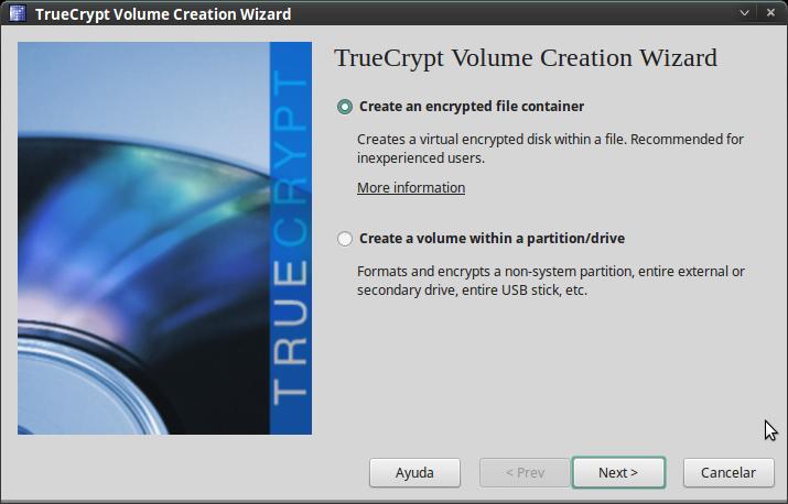 Pantallazo-TrueCrypt Volume Creation Wizard