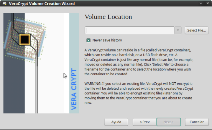Pantallazo-VeraCrypt Volume Creation Wizard-2