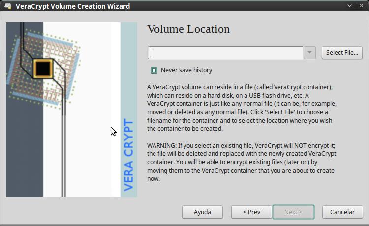Pantallazo-VeraCrypt Volume Creation Wizard-2