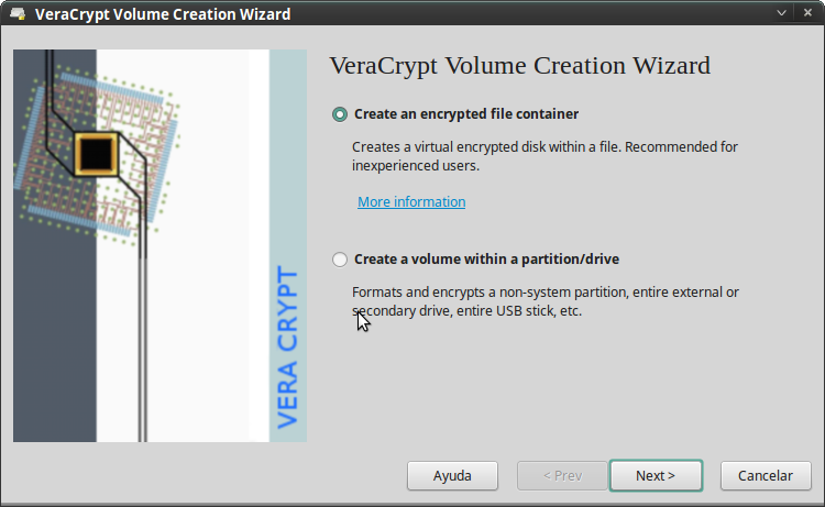 Pantallazo-VeraCrypt Volume Creation Wizard