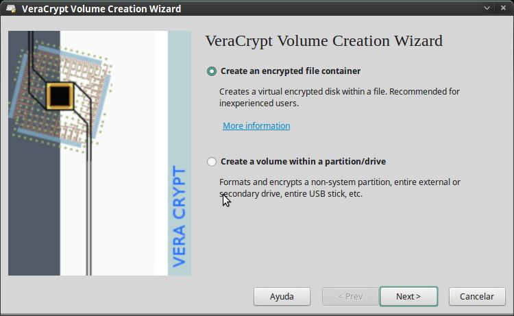 Pantallazo-VeraCrypt Volume Creation Wizard