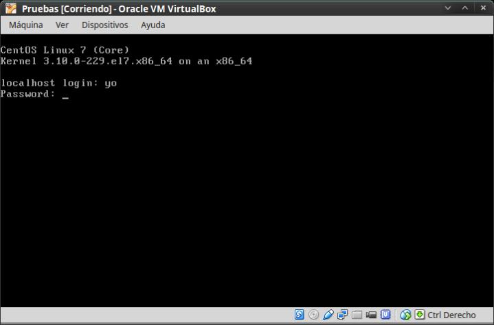 CentOS 7.1 -Arranque ya instalado, en modo consola, sin gráficos