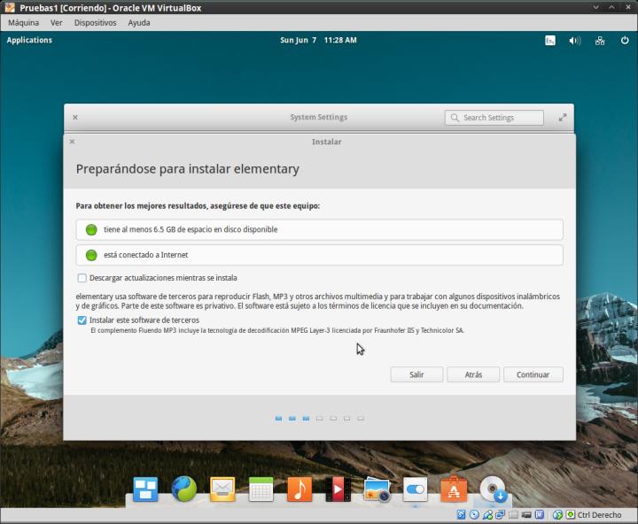 Elementary OS 03 -Instalando el sistema