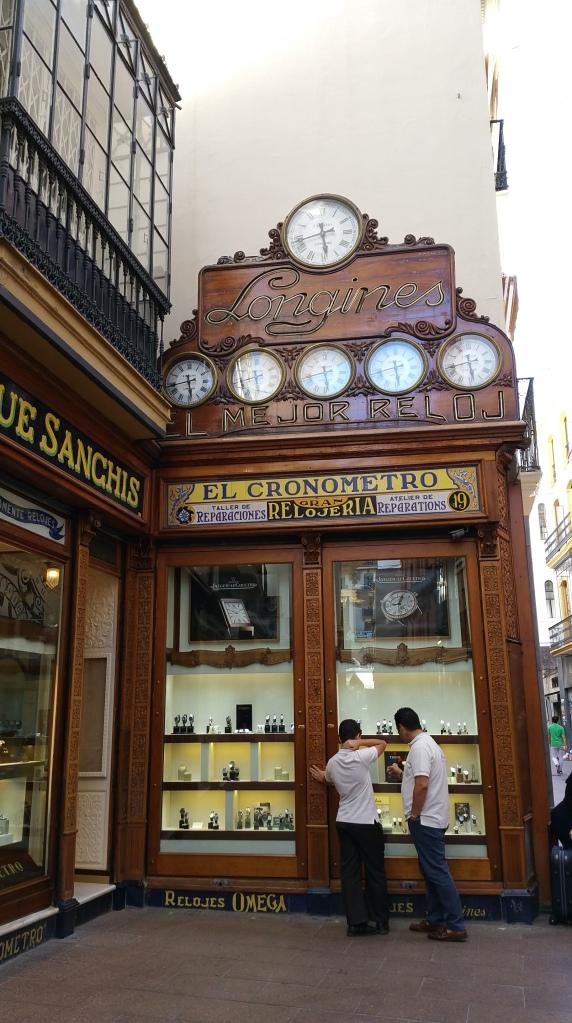 Sevilla.- Tienda de relojes