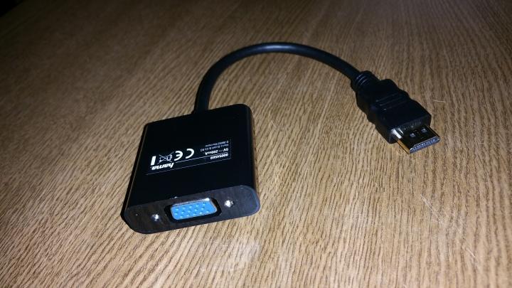 Adaptador HDMI (macho)-VGA (hembra)