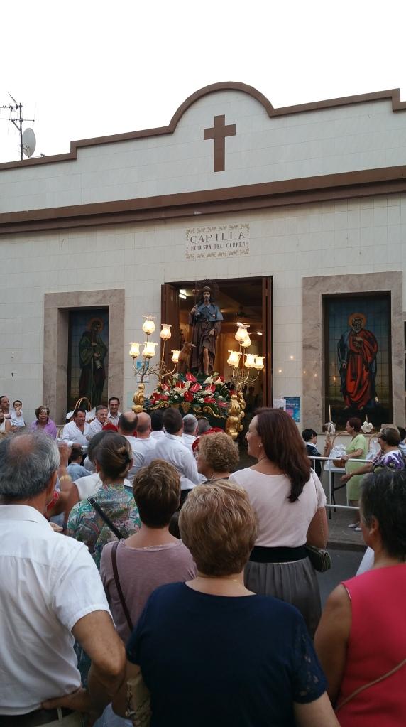 La vuelta del Santo a la capilla de Nª Sra. del Carmen