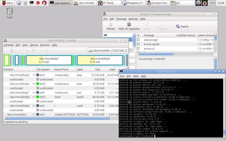 Raspbian: rodando software instalado 1