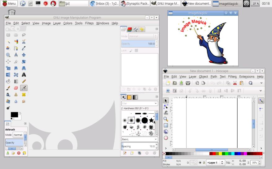 Raspbian: rodando software instalado 2