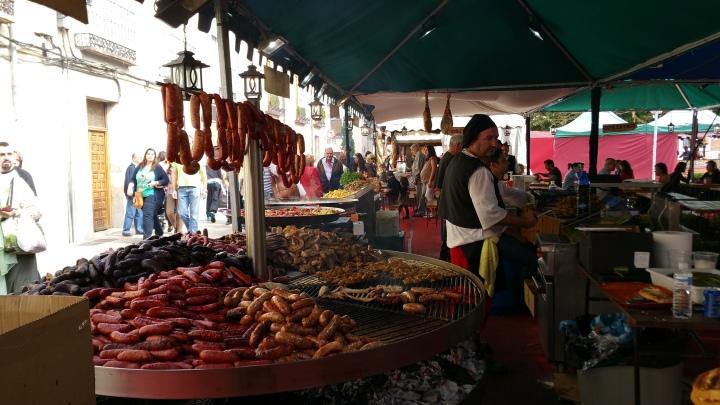 Mercado Cervantino de Alcalá- Comida
