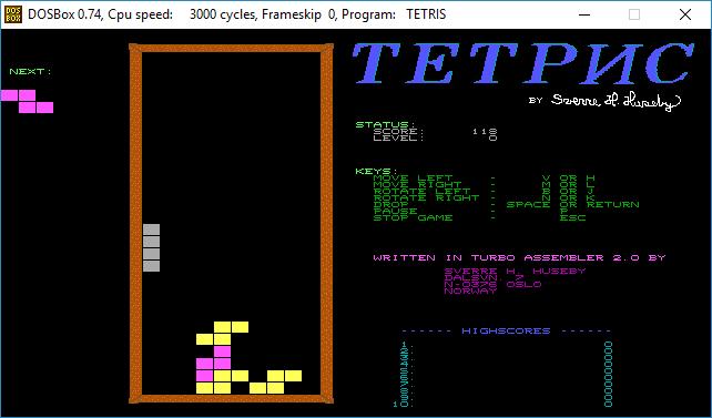 TetrisCorriendoEnDOSBox