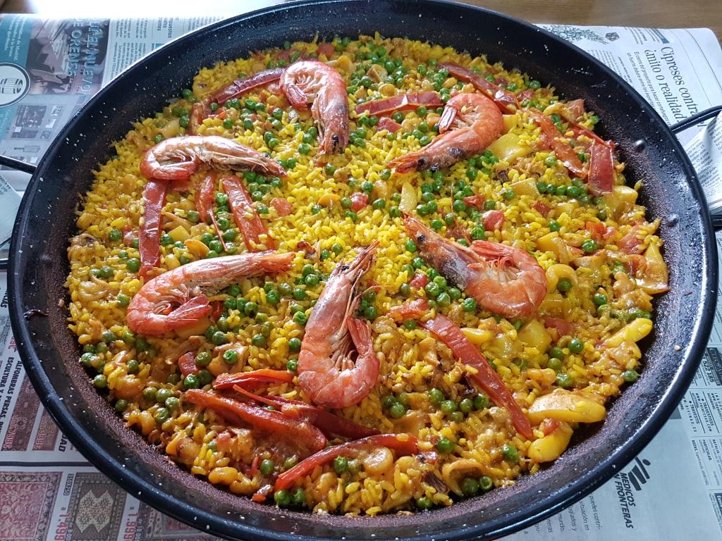 Paella de frutos de mar